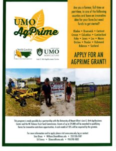 Cover photo for Moore County Farmers  Eligible for AgPrime Grants-Deadline March 1