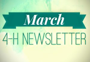 March 4-H Newsletter