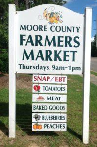 Moore County farmer's market logo image