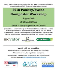 Cover photo for 2018 Poultry / Swine Composter Workshop