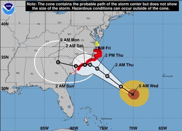Hurricane Florence track image