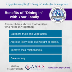 Cover photo for Join the Dining in Campaign and Support Family Wellness