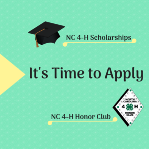 It's Time to Apply for NC 4-H Scholarships and Honor Club