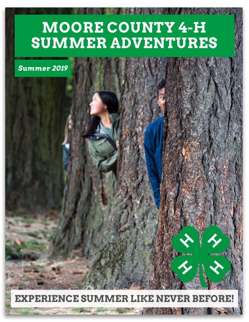 Moore County 4-H Summer Adventures - Summer 2019
