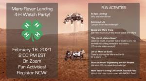 Mars Rover landing on Mars